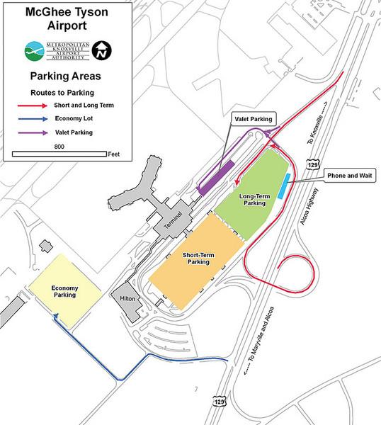 Tys Airport Map McGhee Tyson Airport Map   McGhee Tyson Airport • mappery