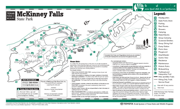 McKinney, Texas State Park Facility Map