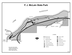 McLain State Park, Michigan Site Map