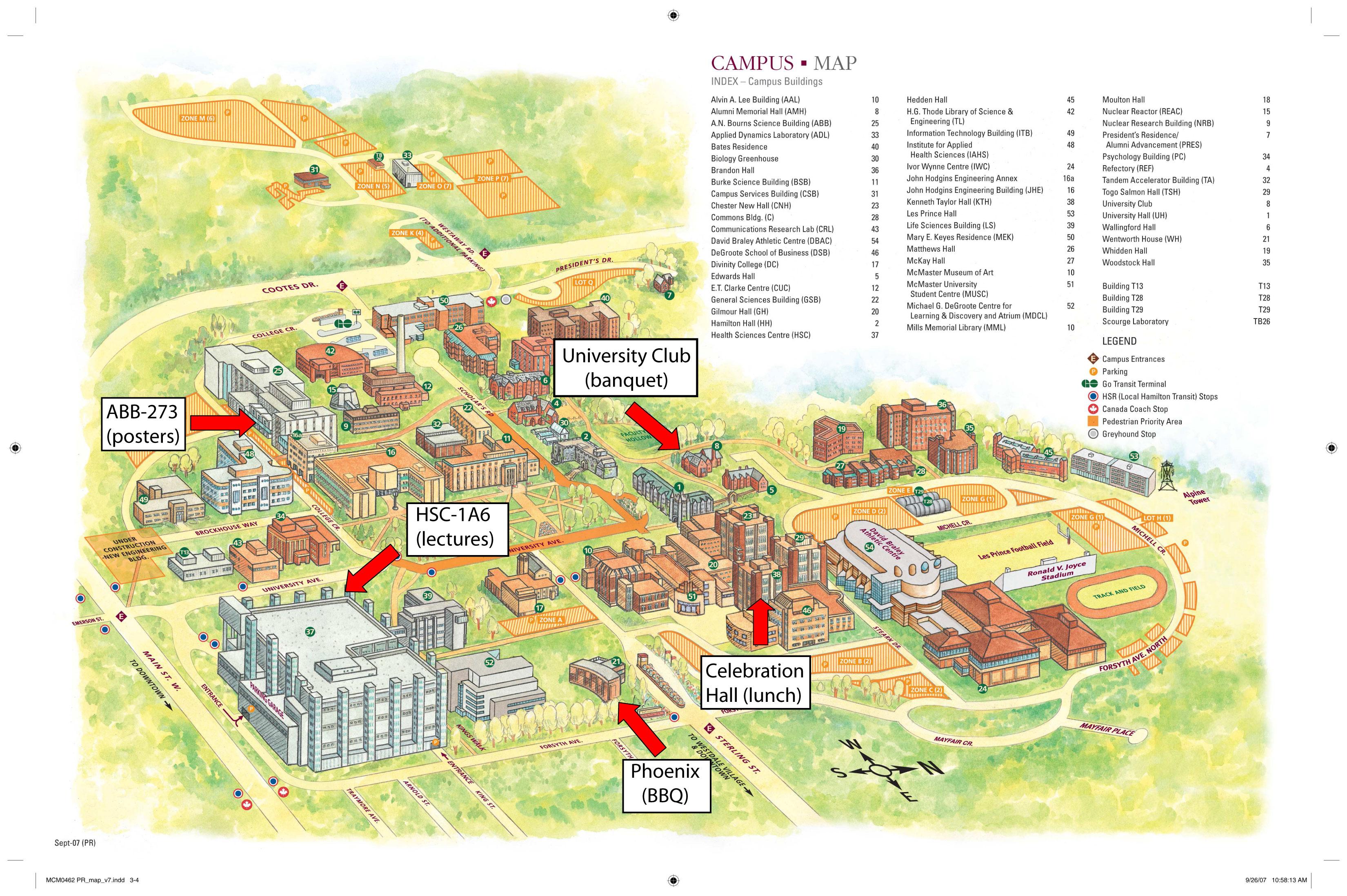 Hamilton Ontario Canada Map.Mcmaster University Map Mcmaster University Hamilton Ontario
