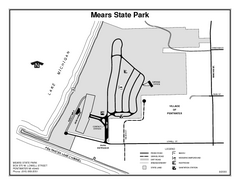 Mears State Park, Michigan Site Map