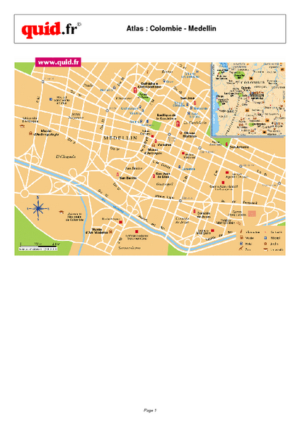 Medellin City Centre Map