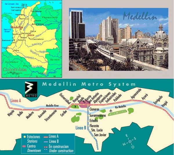 Medellin Metro Transit Map Medellin Colombia mappery