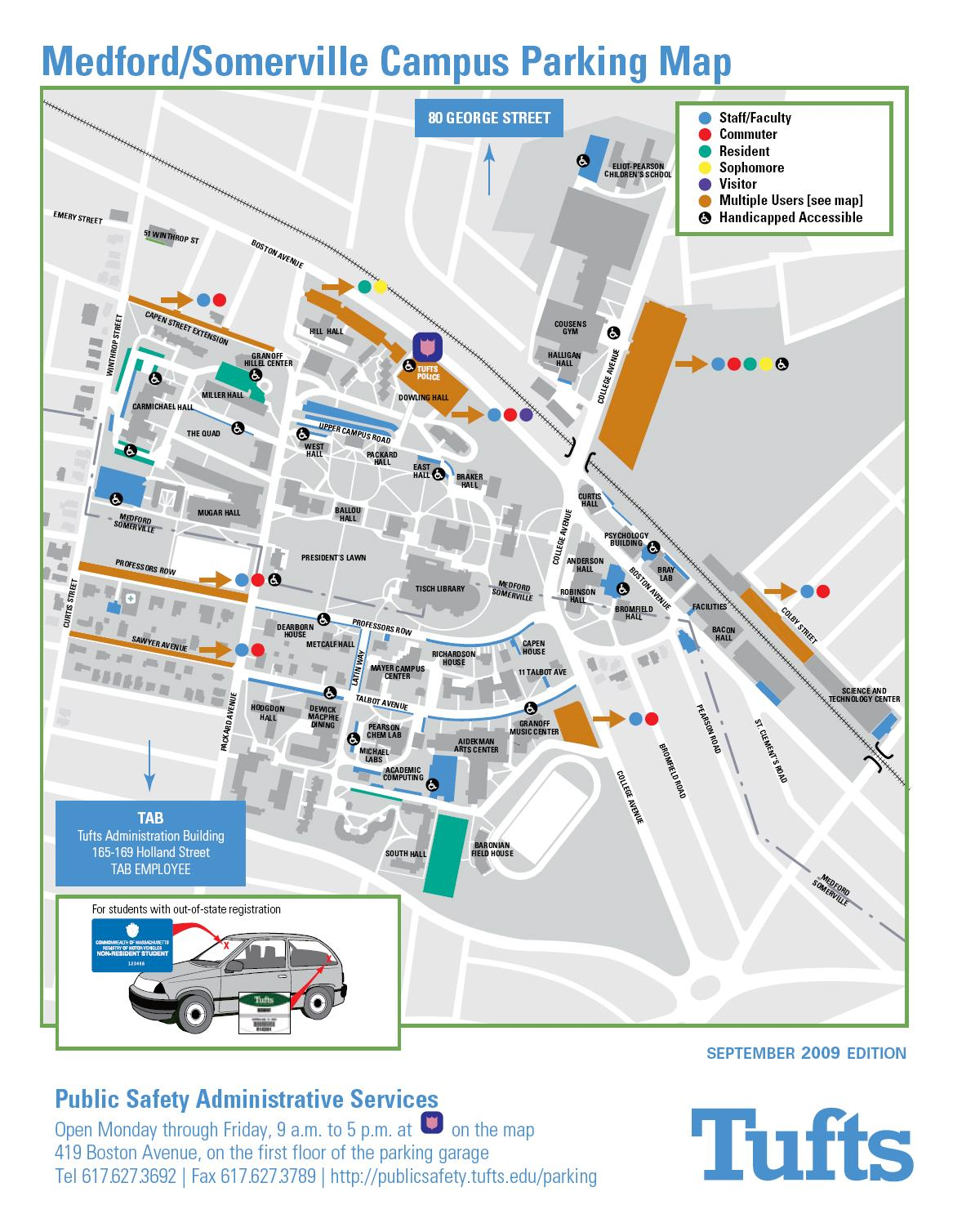 Tufts Medford Campus Map.Medford Campus Map Medford Ma Mappery