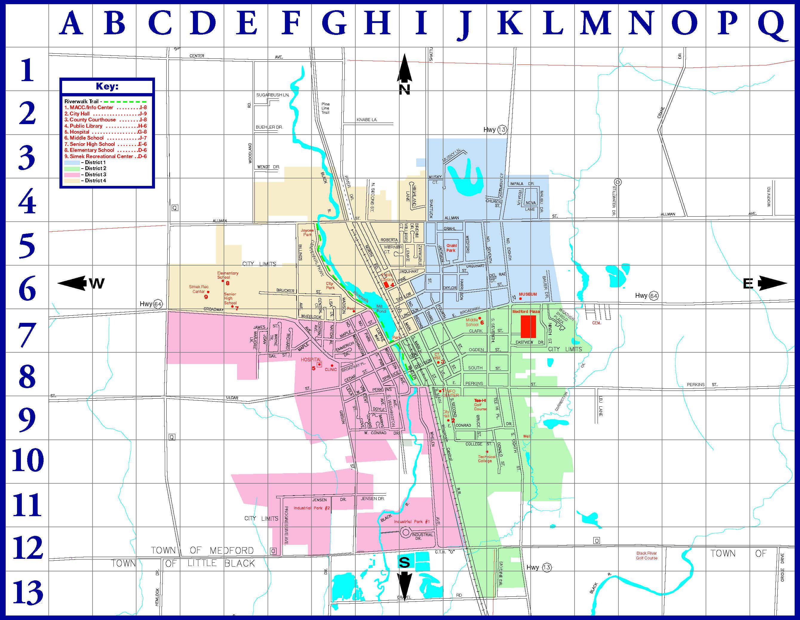 Medford City Map Medford Wisconsin mappery
