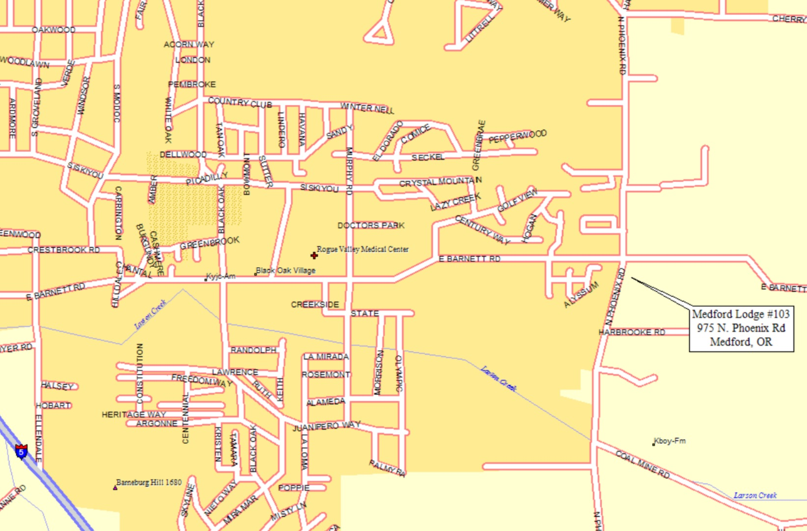 Medford Oregon City Map   Medford Oregon • mappery