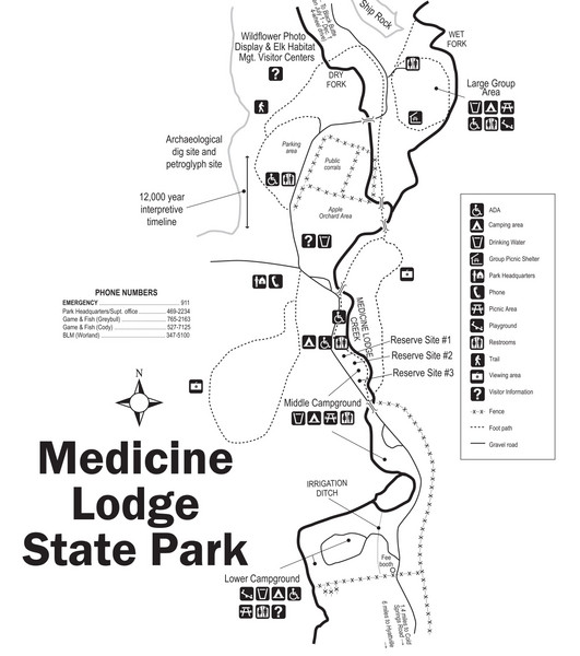 Medicine Lodge State Park Map