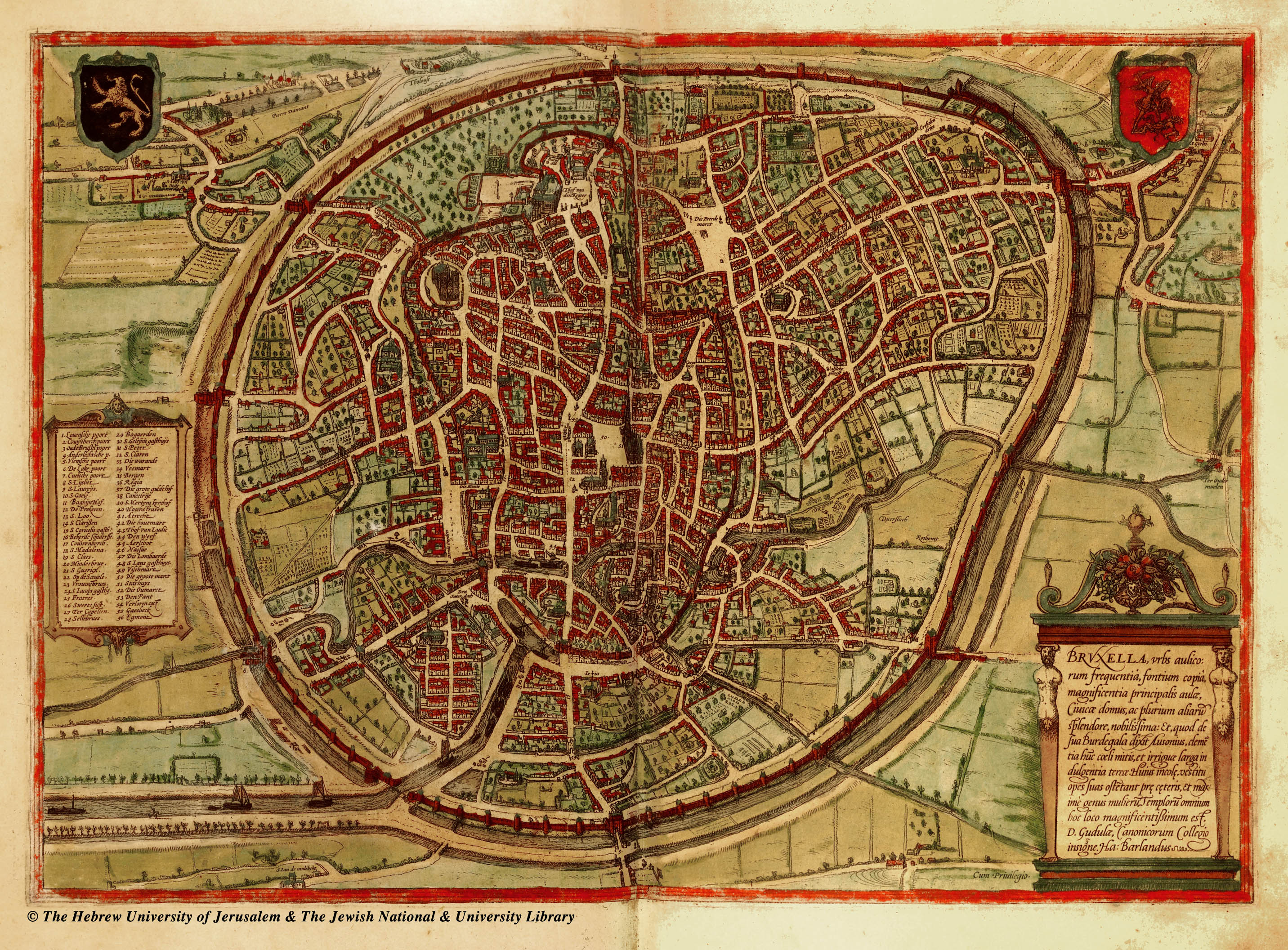 Medieval Brussels Map Brussels mappery