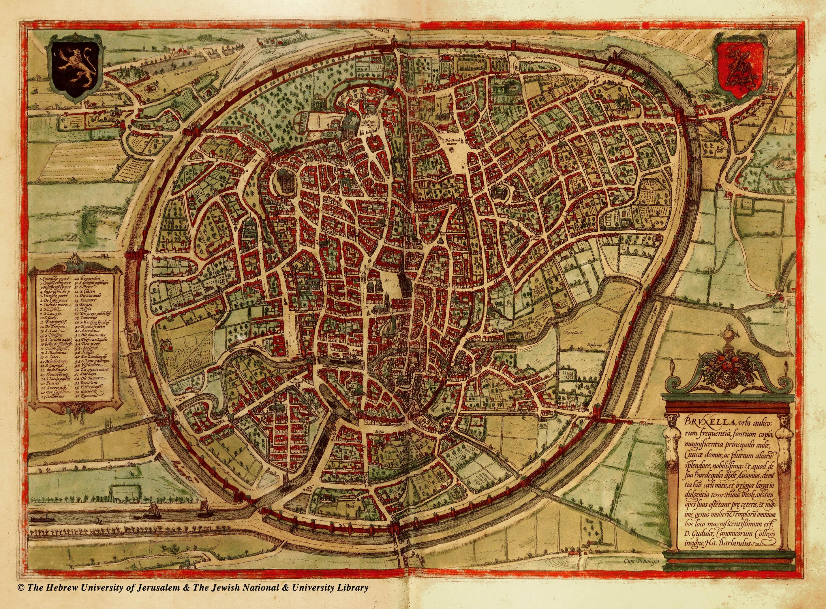 Carte Du Bruxelles Medieval