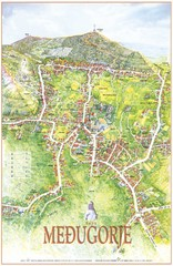 Medjugorje Tourist Map