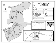 Medoc Mountain State Park map