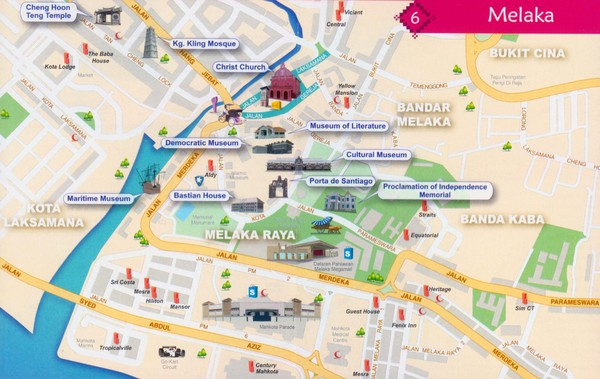 Melacca Tourist Map
