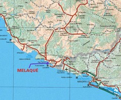 Melaque, Mexico Beach Tourist Map
