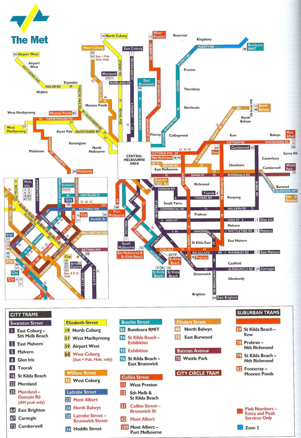 Melbourne Public Transportation Map Melbourne mappery