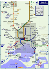 Melbourne Train Map