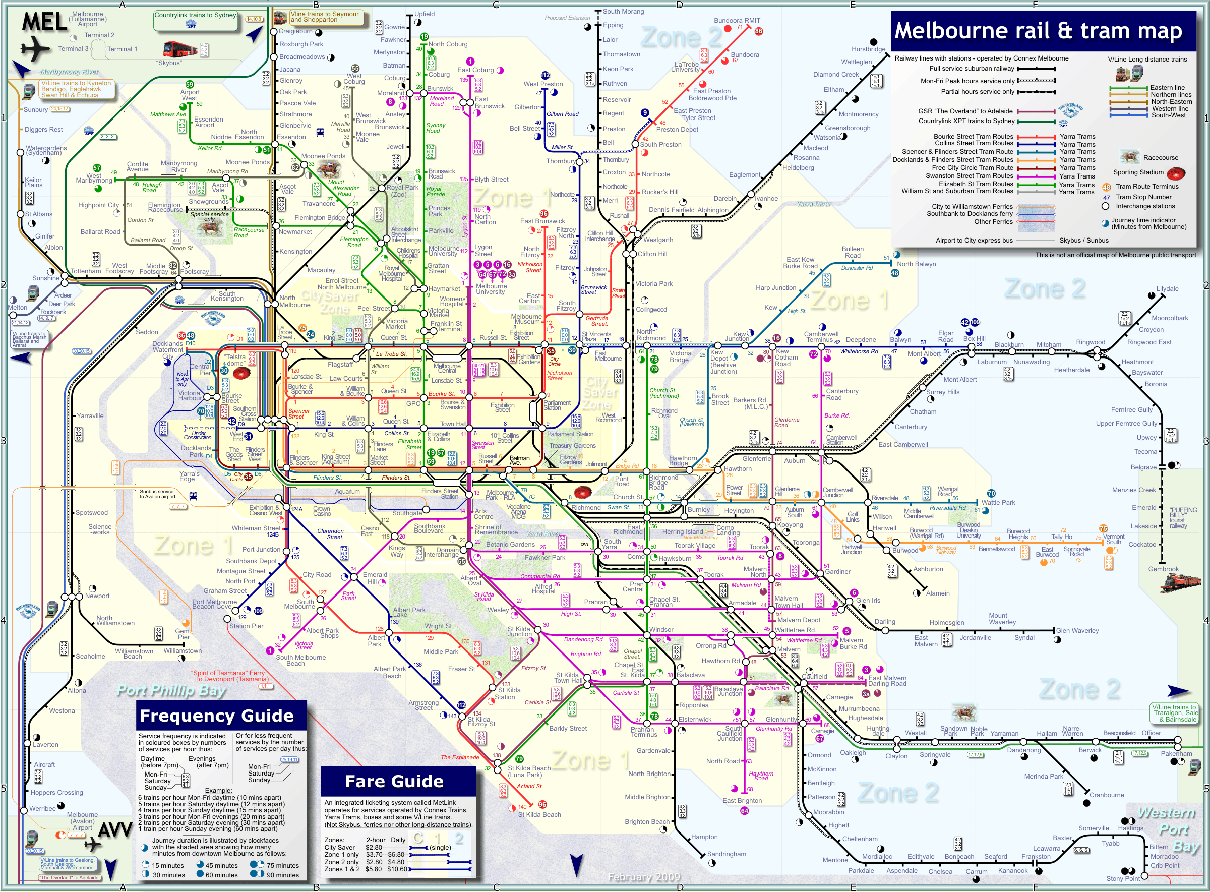 Melbourne Map Tourist – Melbourne Map For Tourist