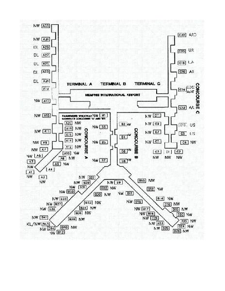 Memphis International Airport Terminal Map