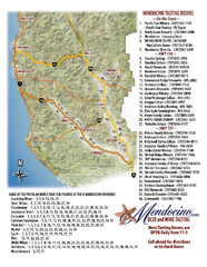 Mendocino Beer and Wine Tasting Map