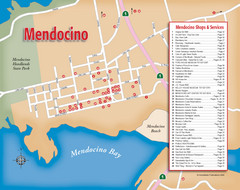 Mendocino Tourist Map