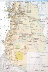 Mendoza Province Road Map