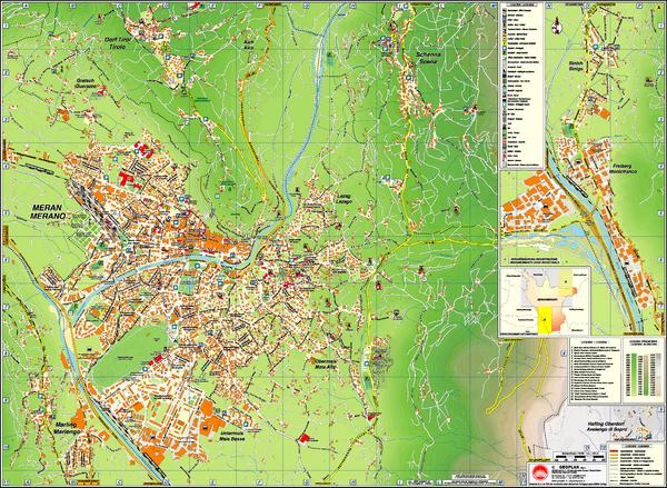 Italy Map Pdf.Merano City Map Merano Italy Mappery