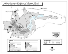Merchants Millpond State Park map