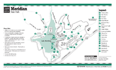 Meridian, Texas State Park Facility and Trail Map