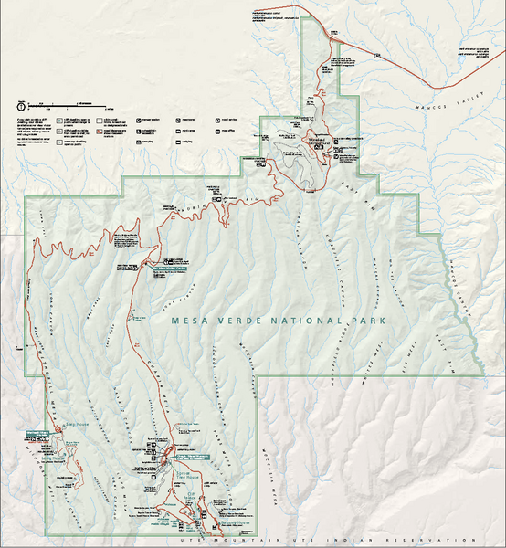 Mesa Verde National Park Official Park Map