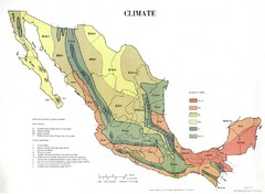 Mexican Climate Map