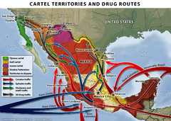Mexican Drug Cartel Territories and Routes Map