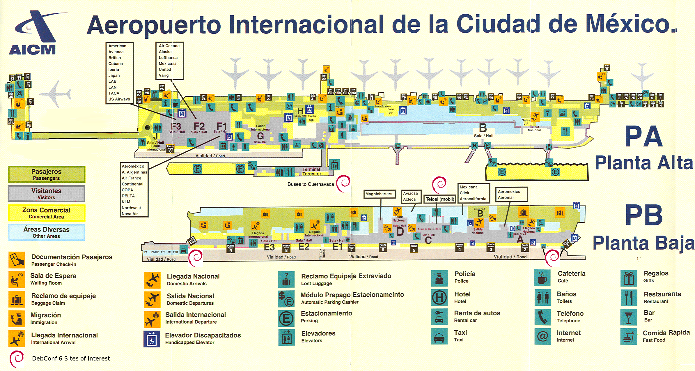 Mexico City Airport Map Venustiano Carranza Mexico Mappery - Airports in mexico