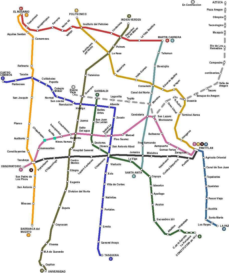 Mexico City Mexico Bus System Map Mexico City Mexico Mappery