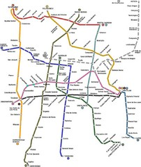Mexico City, Mexico Bus System Map
