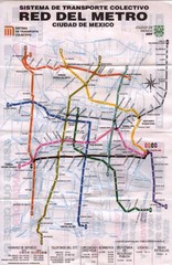 Mexico City, Mexico Metro System Map