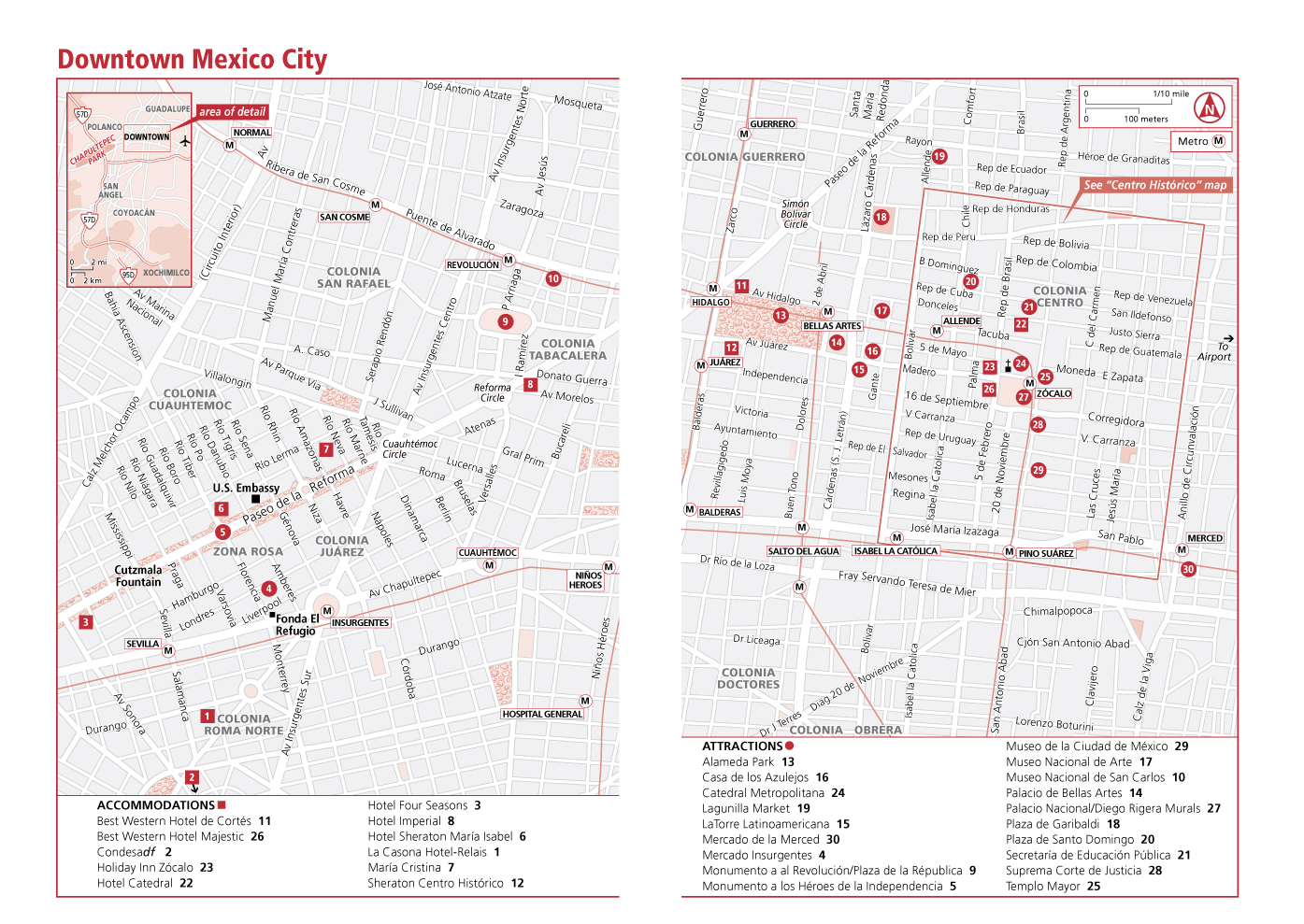 mexico city mexico tourist map mexico city mexico mappery