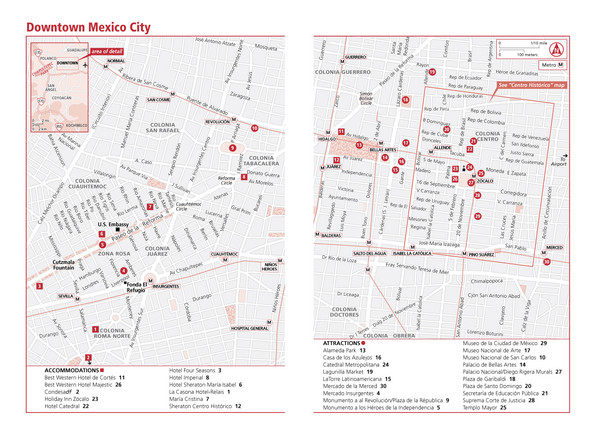 fullsize mexico city mexico tourist map