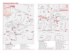 Mexico City, Mexico Tourist Map
