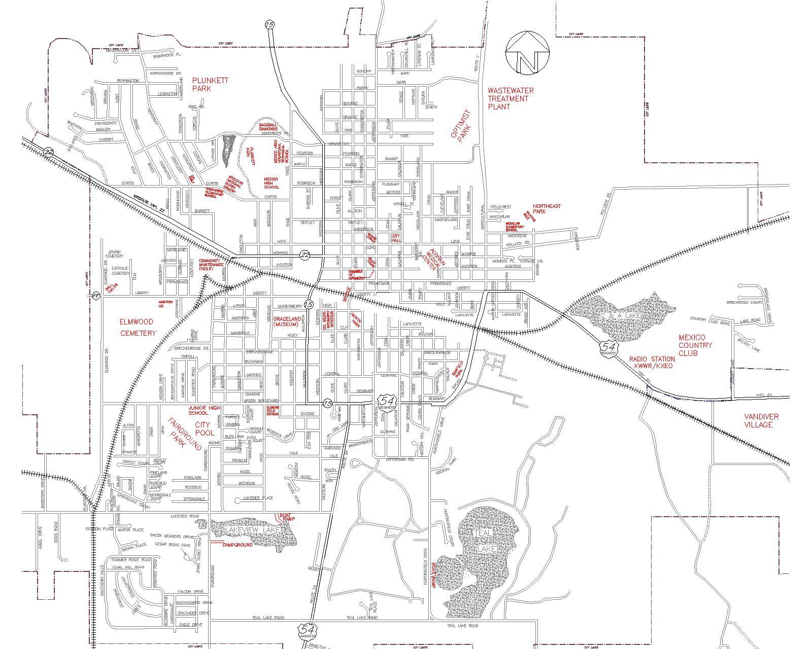 Mexico Missouri Street Map Mexico Missouri mappery