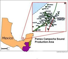 Mexico Petroleum Map