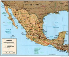 Mexico Relief Map