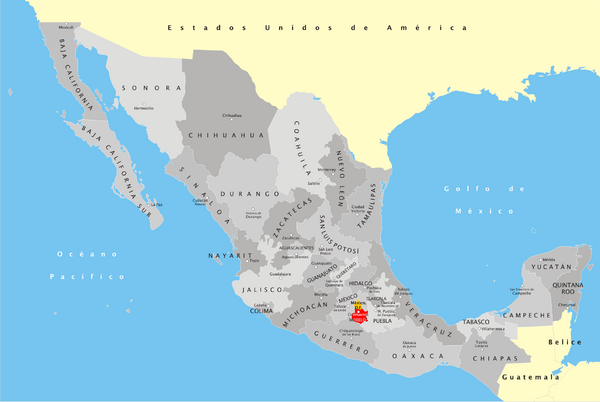 fullsize mexico states map