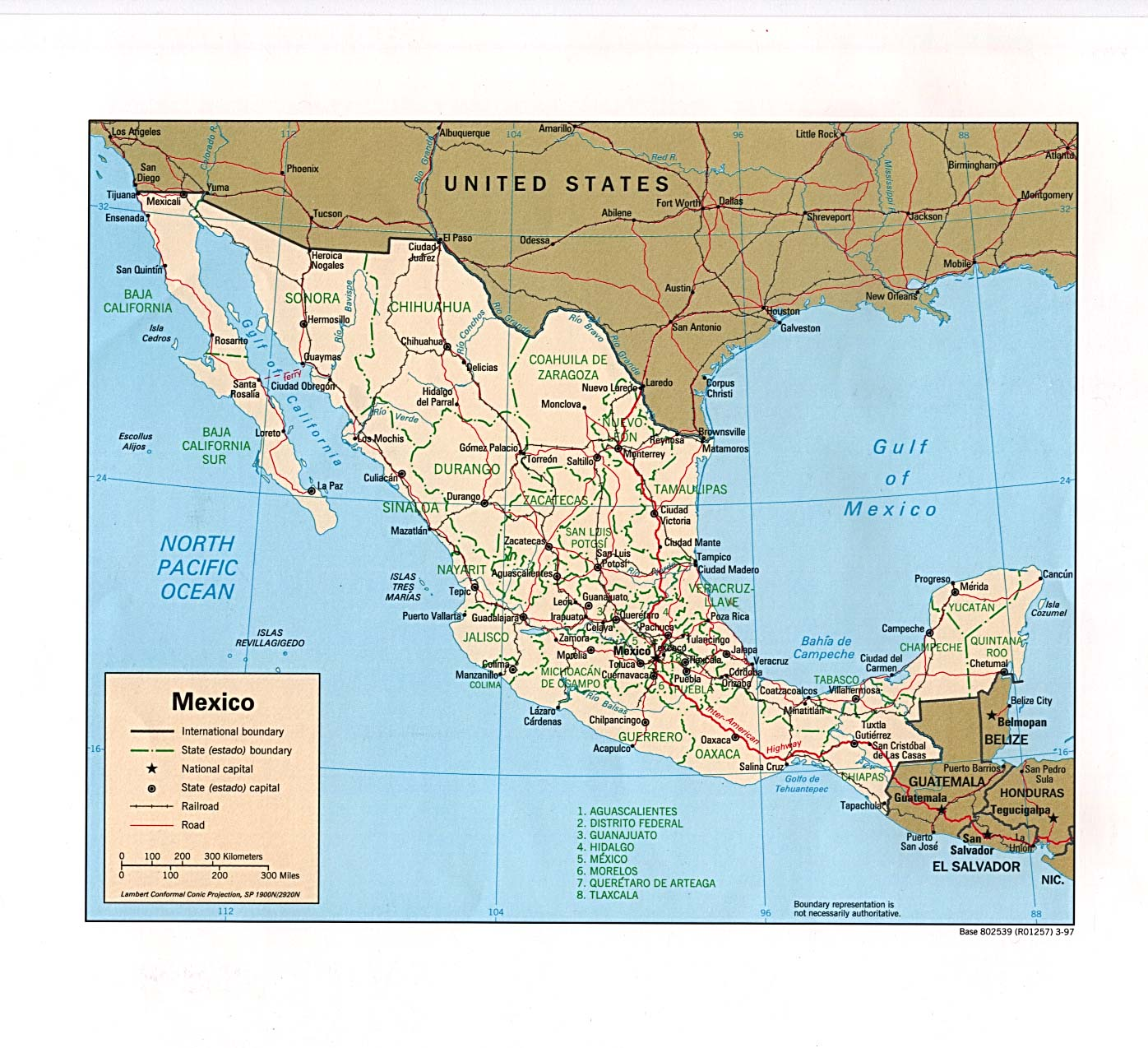 Mexico Tourist Map Mexico mappery – Tourist Map Of Mexico City