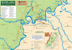 Mfuwe Area South Luangwe National Park Map