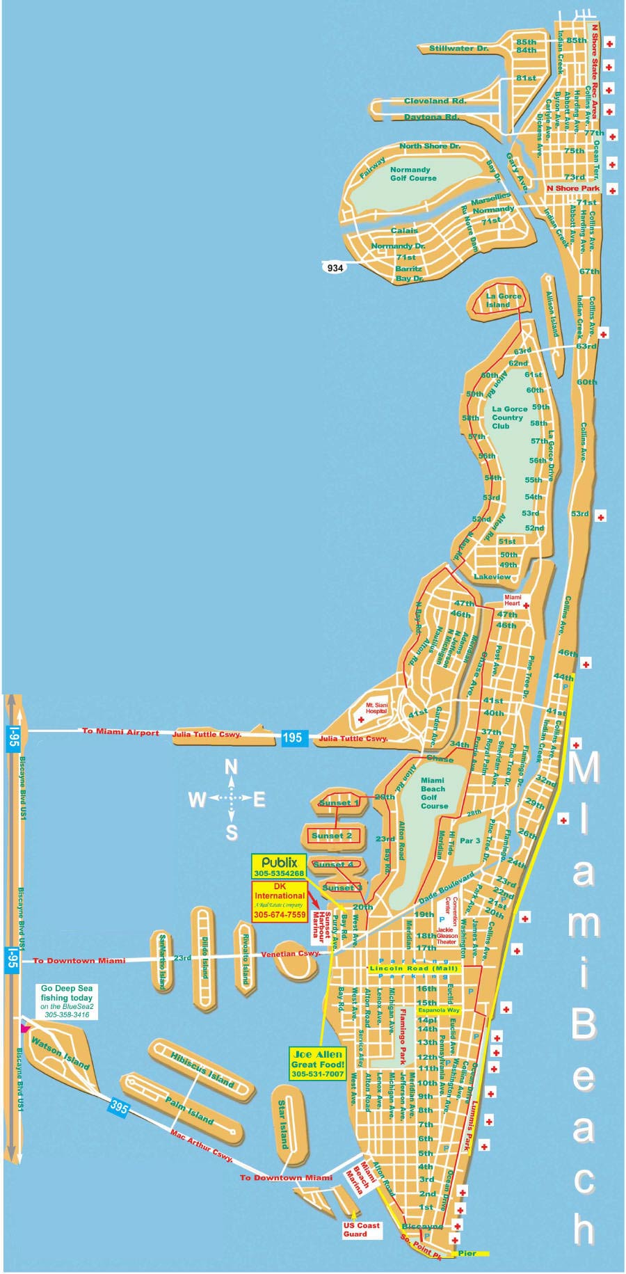 Miami Beach Tourist Map Miami Beach mappery – Miami Tourist Map