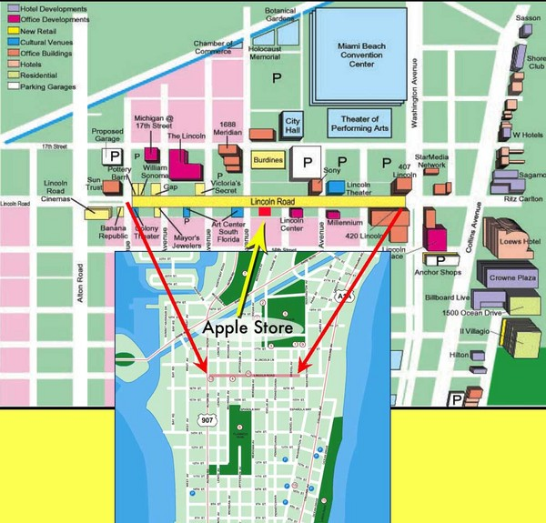 Miami Beach Tourist Map Near Miami Beach Convention Center mappery – Miami Tourist Map