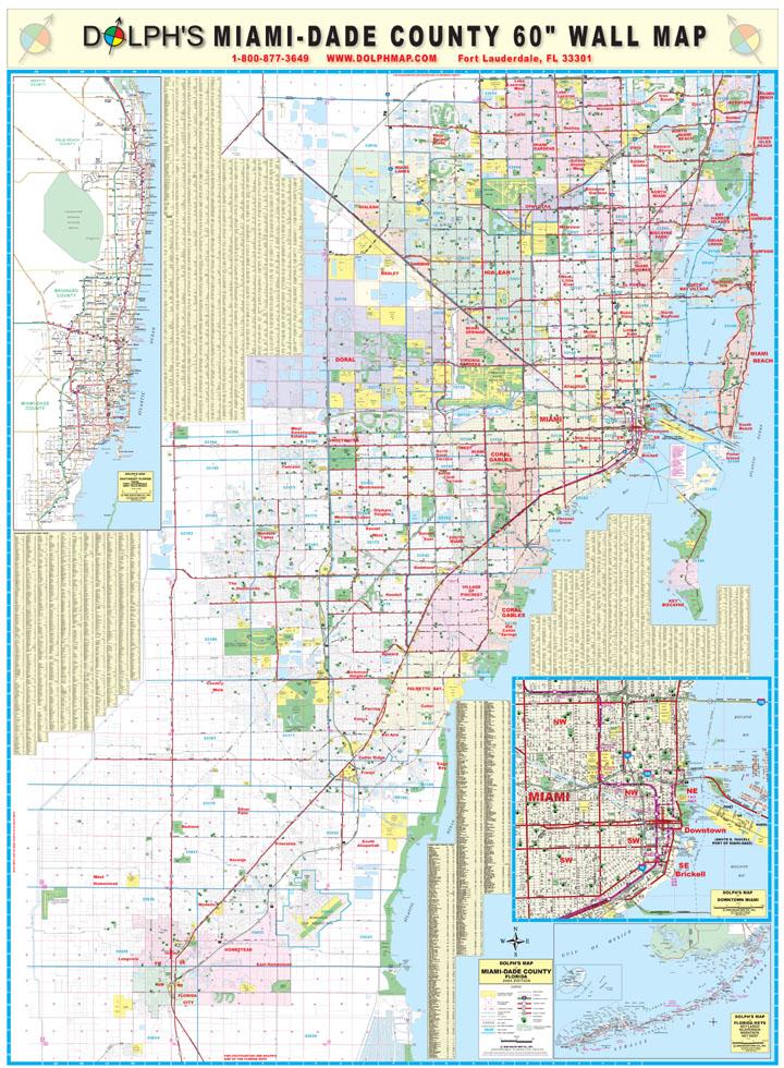Miami Florida Tourist Map Miami FL mappery