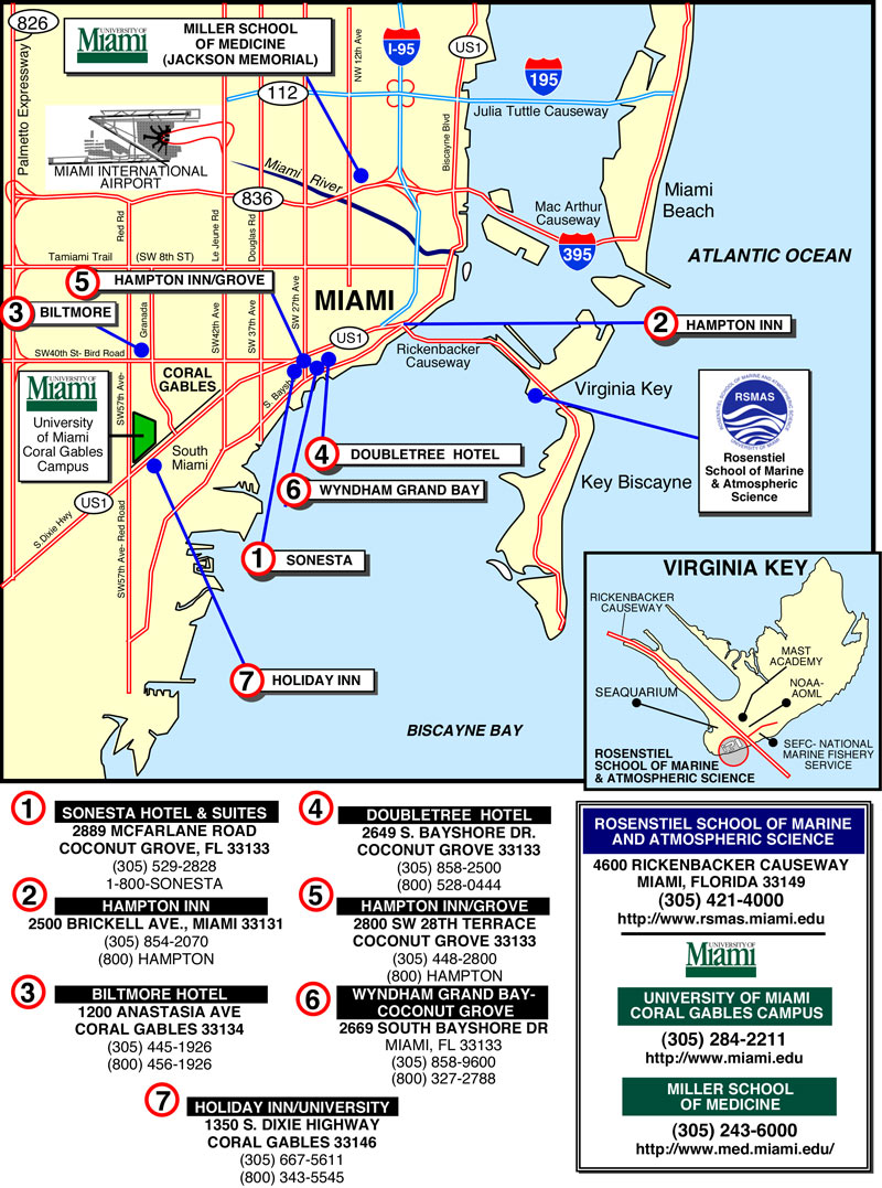 Miami Hotel map miami florida mappery – Miami Tourist Map