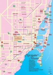 Miami tourist map