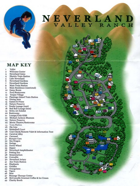 Michael Jackson039s Neverland Ranch Map - 5225 Figueroa Mountain ...
