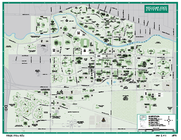 Gallery For Gt Michigan State University Map